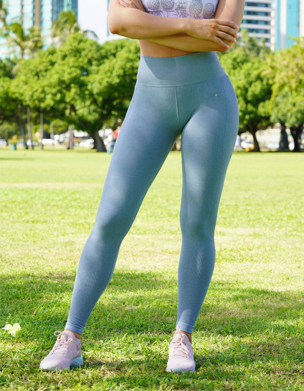 Urban Seamless Leggings - Sky Blue