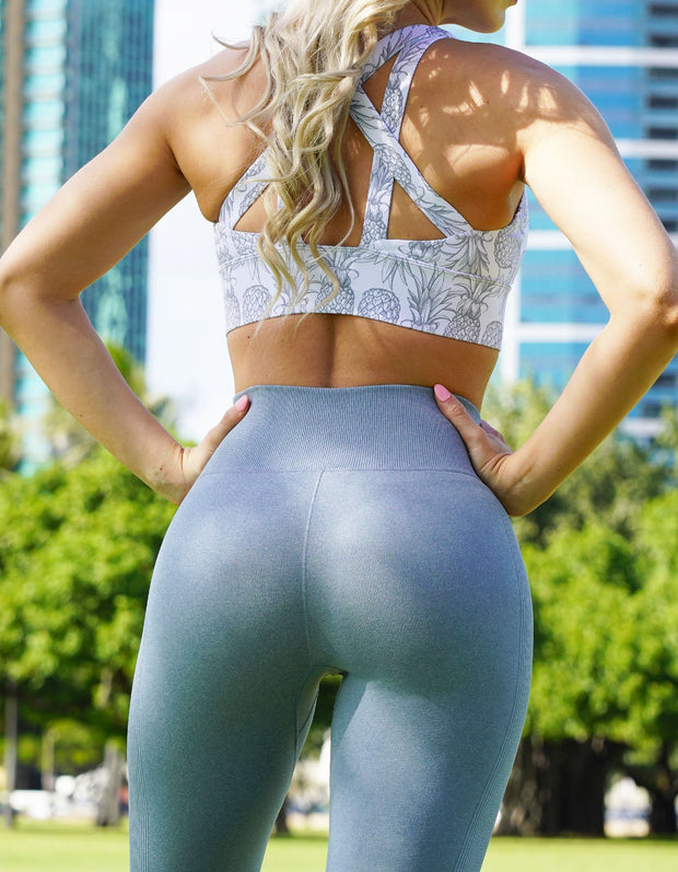 Love Fitness Apparel Light Blue Sky Blue Urban Seamless leggings