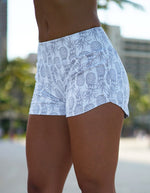 Love Fitness Apparel White Pineapple Runners Pineapple running shorts spandex shorts love fitness