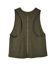 Keep Hustlin' - Olive Green Tank