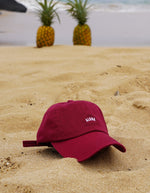 love fitness apparel maroon aloha dad hat
