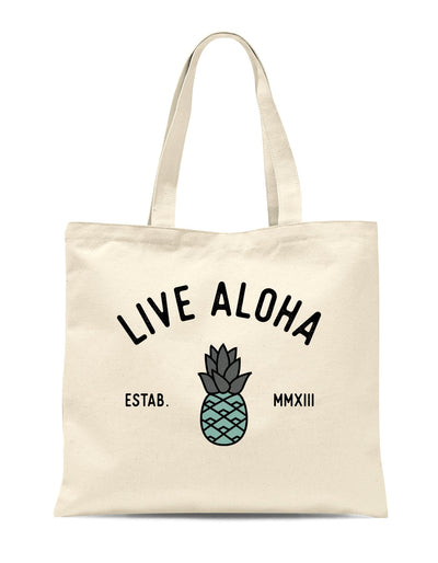 Aloha Pineapple Large Tote Bag