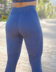 Gaia Seamless Leggings - Stone Wash Blue