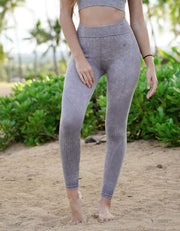 Gaia Seamless Leggings - Stone Wash Grey