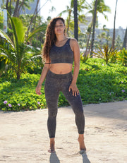 Gaia Seamless Leggings - Stone Wash Black