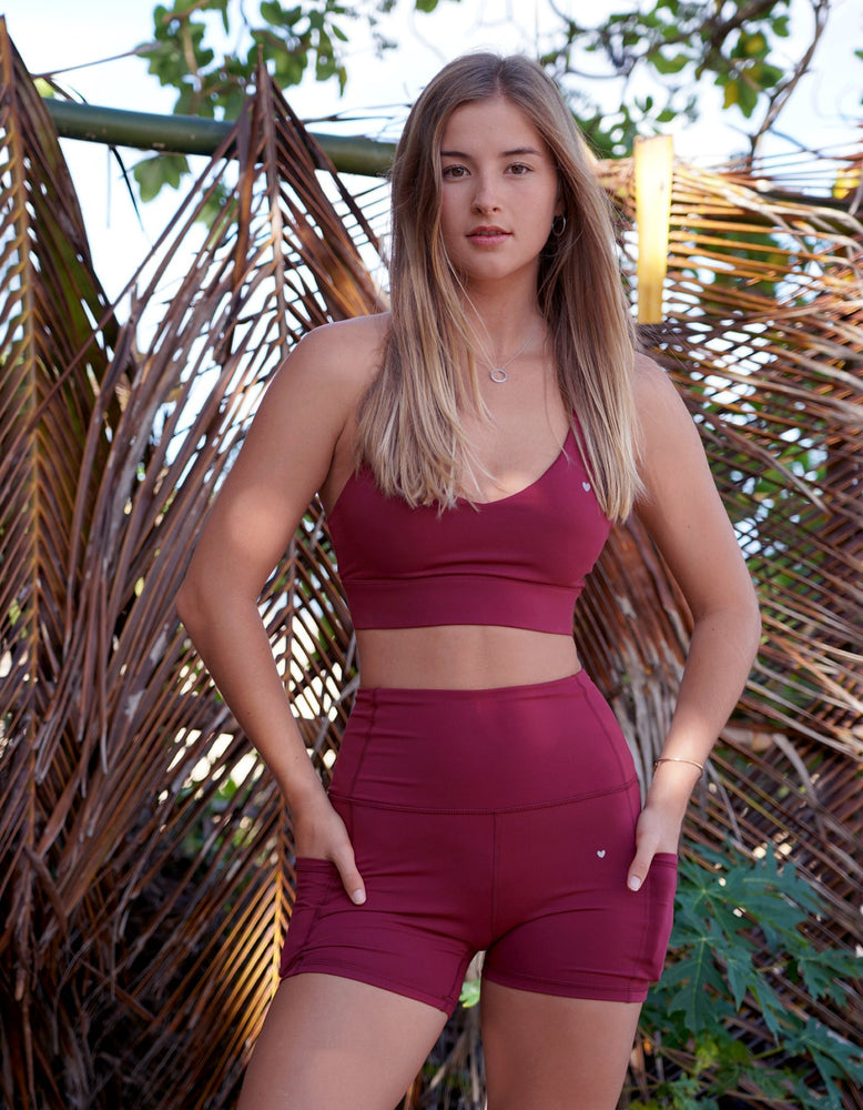 Luxe Pocket Shorts - Maroon