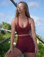 Rebel Sports Bra - Maroon