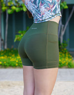 Luxe Pocket Shorts - Olive Green