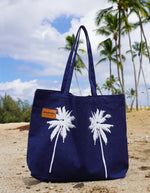 Palm Tree  Tote Bag - Navy Blue