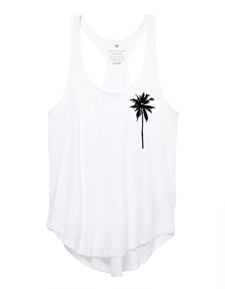 Palm Tree Logo - White Tank