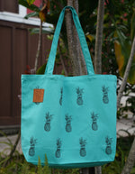 Pineapple Tote Bag - Seafoam