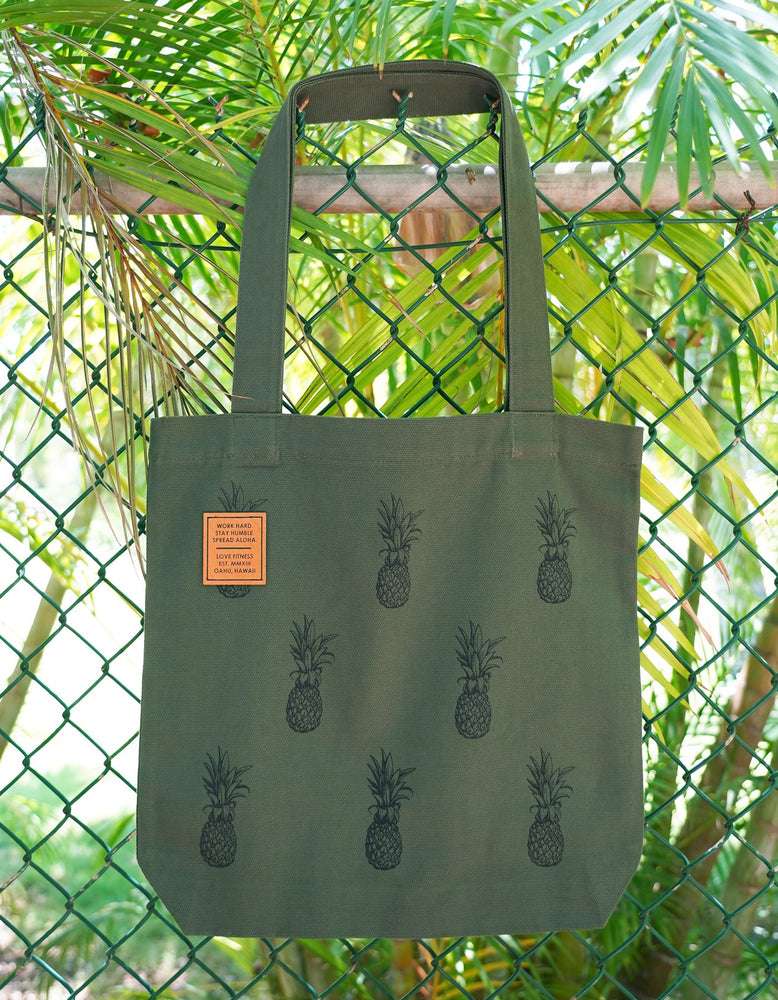 Pineapple Tote Bag - Military Green