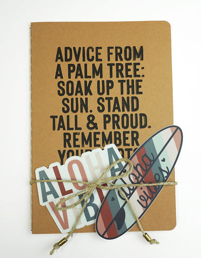 Make Waves Notebook & Sticker Pack