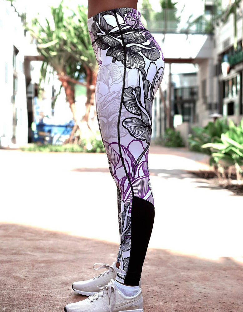 Koalani - Purple Rose Leggings