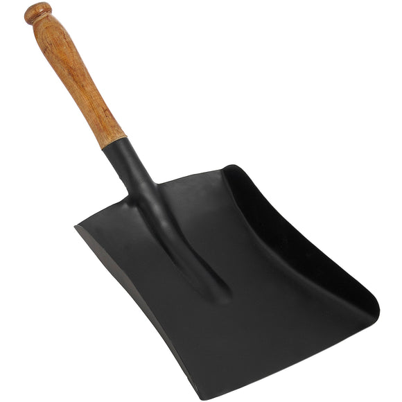 Shovel with Wooden Handle - Black