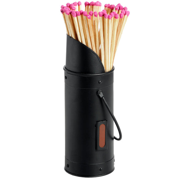 Matchstick Holder with 60 Matches - Black