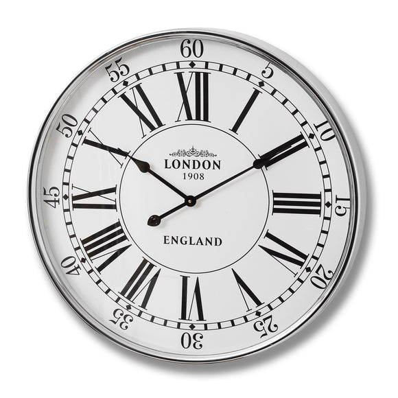 Christine's Additions London City Wall Clock - Silver