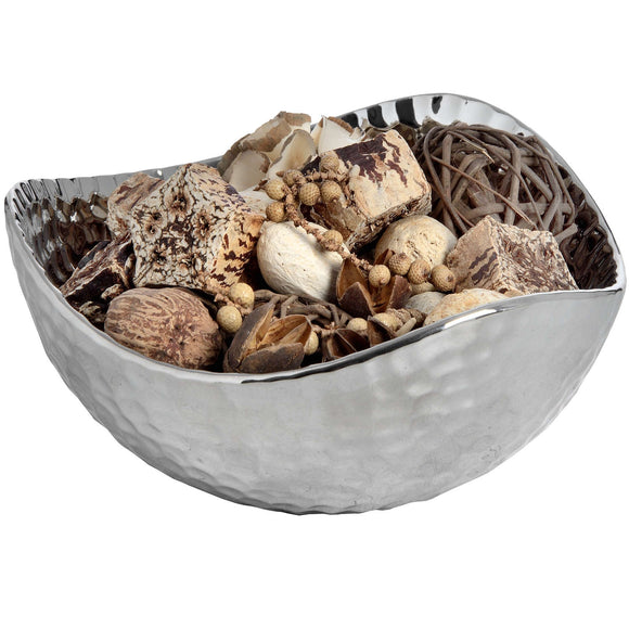 Christine's Silver Ceramic Dimple Effect Display Bowl - Small
