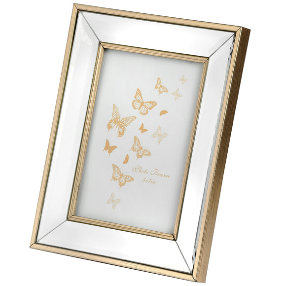 Christine's Rectangle Mirror Bordered Photo Frame - 4x6