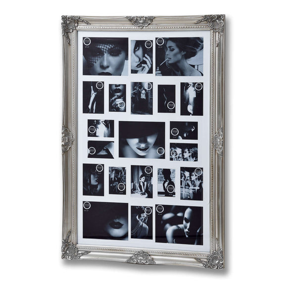 Christine's Ornate Multi Photo Frame - Antique Silver