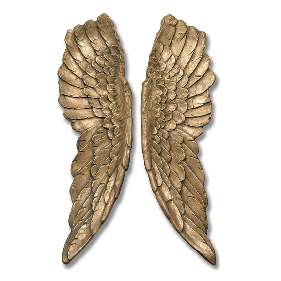 Angel Wings Hanging Ornament - Antique Gold