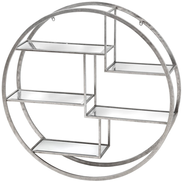 Christine's Additions Circular Silver Wall Hanging Multi Shelf - Large