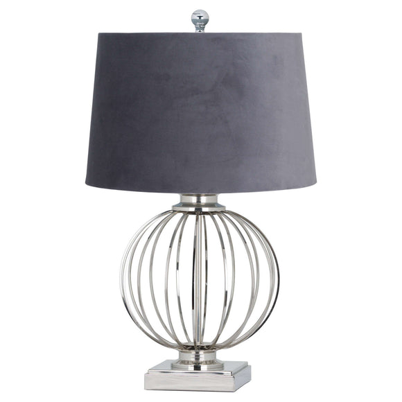 Paris Chrome Table Lamp - Grey