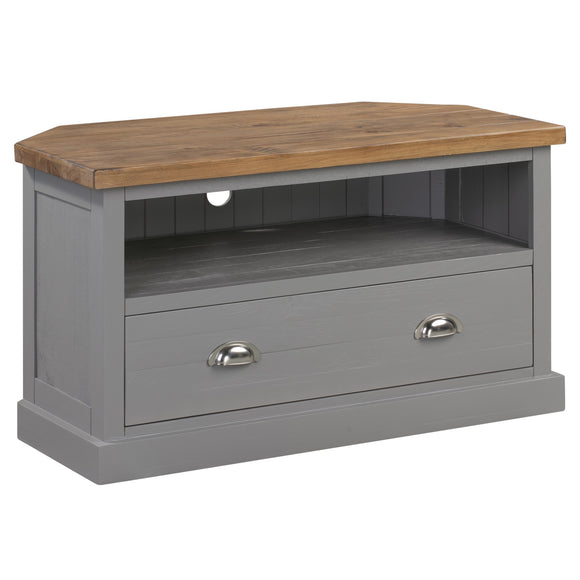 The Byron Collection Corner TV Unit - Grey