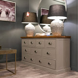 The Byron Collection 9 Drawer Chest - Grey