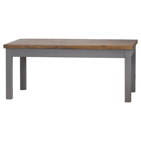 The Byron Collection 2 Drawer Dining Table - Grey
