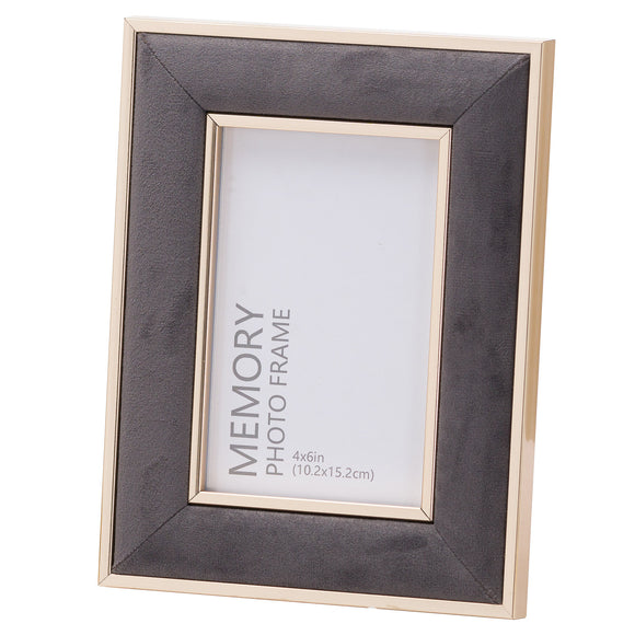 Christine's Grey Velvet Photo Frame - 4X6