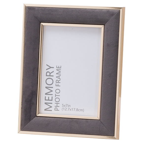 Christine's Grey Velvet Photo Frame - 5X7