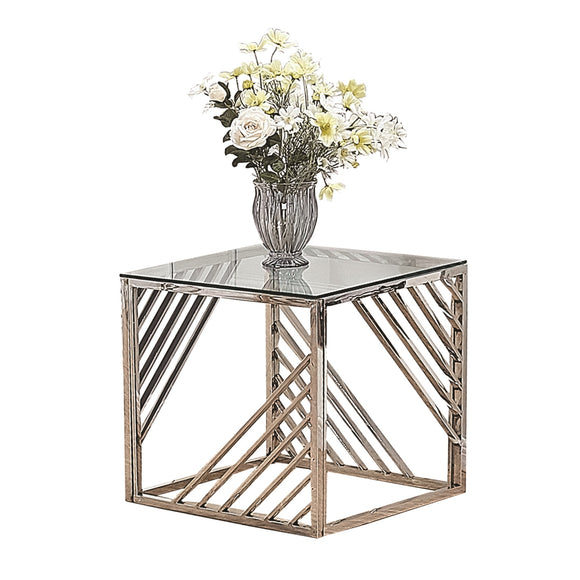 Regal Side Table - Silver