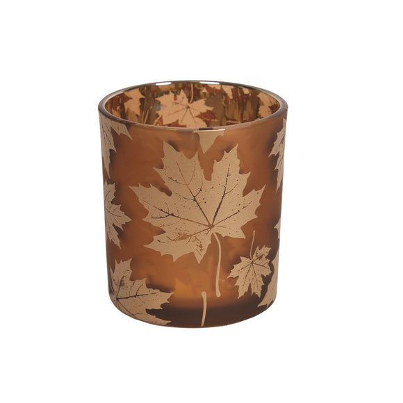 Autumn Leaves Tealight Holder - 8cm