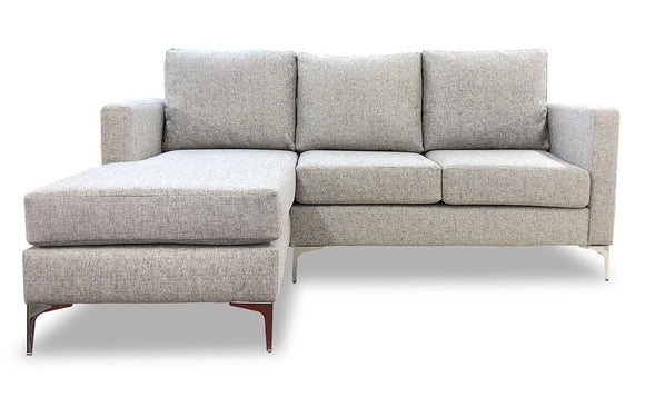 Adele 3-Seater Sofa with Right Hand Chaise - Grey