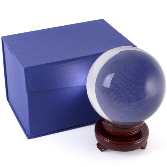 Crystal Ball with Stand - 13cm