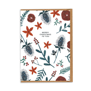 Christmas Thistles & Florals! By Chloe Hall
