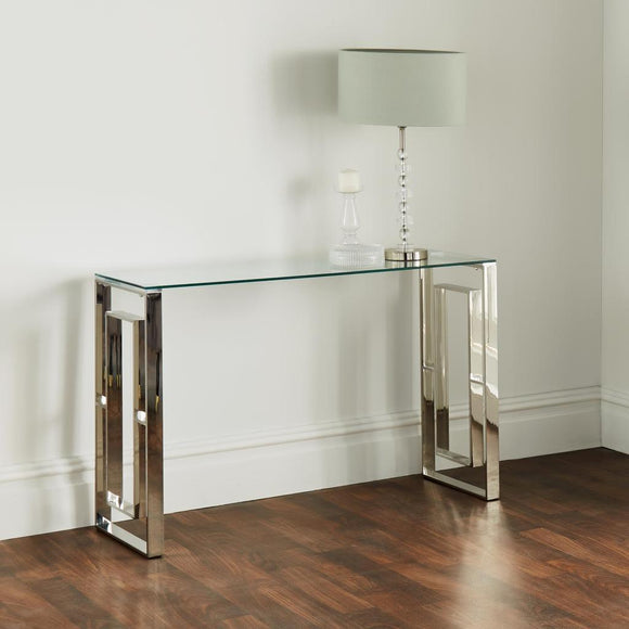 Mysuru Silver Plated Console Table - Silver