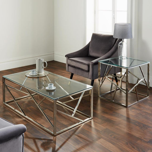 Geo Silver Plated Coffee Table