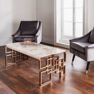 NH Marble Coffee Table - Rose Gold
