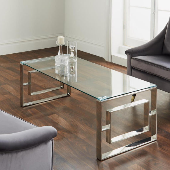 Milan Silver Plated Coffee Table