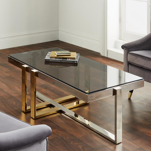 Kollam Silver Plated Coffee Table