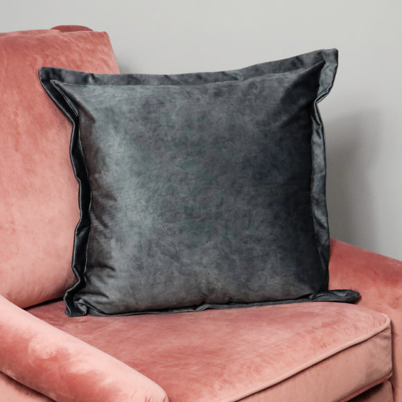 NH Luxury Grey Velvet Cushion