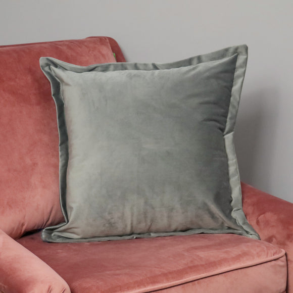 NH Grey Velvet Cushion Cover