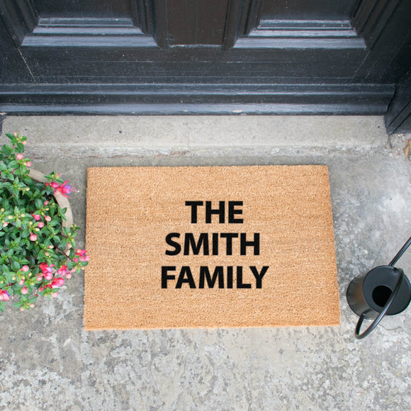 Personalised Artsy Doormat