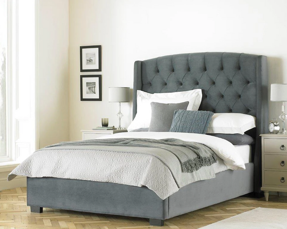 Hackney Luxurious upholstered Bed Frame - Grey