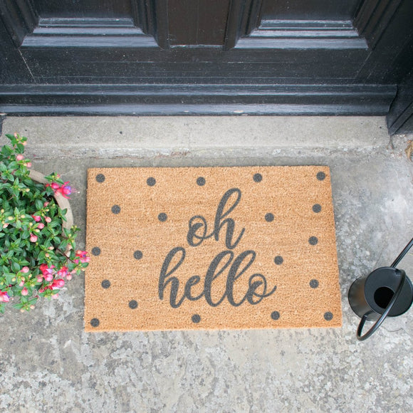 Grey Oh Hello Doormat