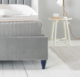 Oxford Luxurious Velvet Upholstered Bed - Grey
