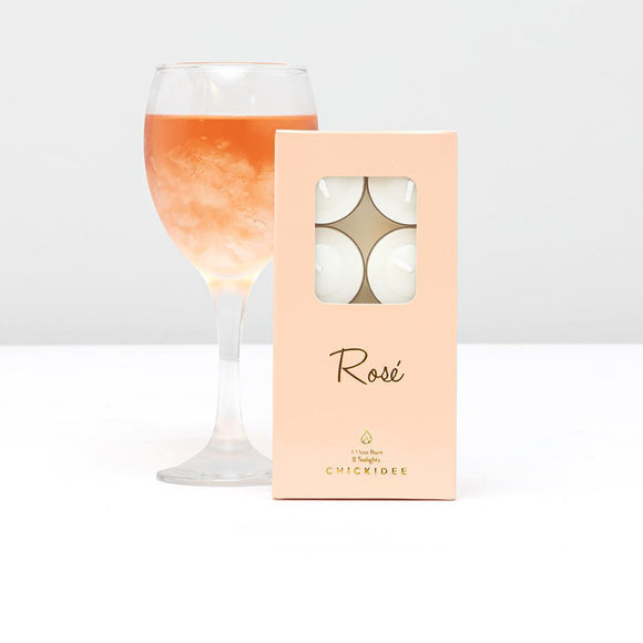 Rosé Tealights by CHICKIDEE