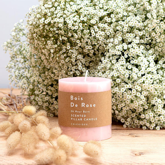 Bois De Rose Pillar Candle - Small